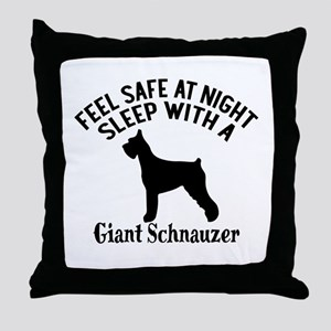Sleep With Giant Schnauzer Dog Design Throw Pillow