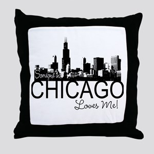 Someone in Chicago Loves Me S Throw Pillow