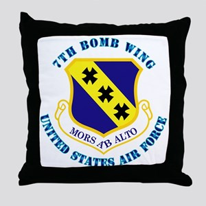7th Bomb Wing with Text Throw Pillow