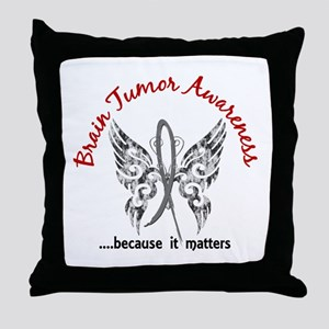Brain Tumor Butterfly 6.1 Throw Pillow