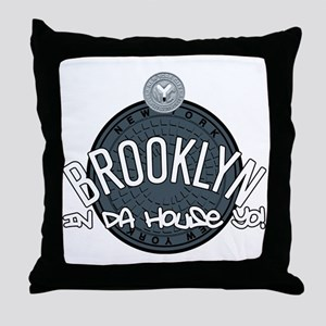 Brooklyn in the House Throw Pillow