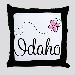 Pretty Idaho Butterfly Throw Pillow