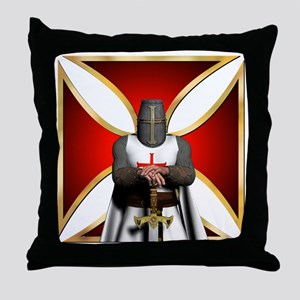 TemplarandCross Throw Pillow