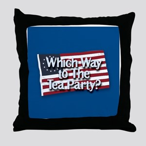 Which Way to The Tea Party? Throw Pillow