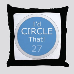 Id Circle That Throw Pillow