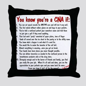 You're A CNA if... Throw Pillow