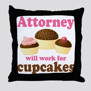Funny Attorney Throw Pillow