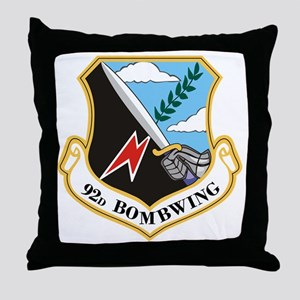 92nd Bomb Wing Throw Pillow