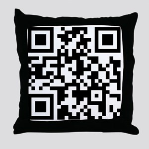 Stop-Looking-At-This-Shirt-QR-Code Throw Pillow