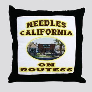 Needles California Throw Pillow