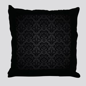 Elegant Black Throw Pillow