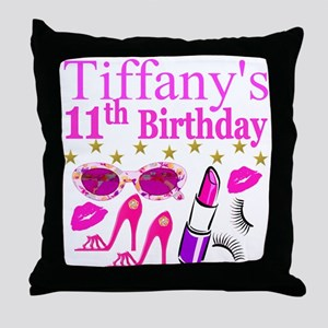PERSONALIZED 11TH Throw Pillow