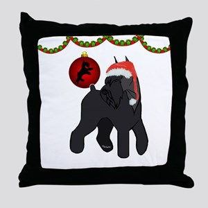 giant schnauzer Christmas Throw Pillow