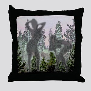 Nudes in pines Throw Pillow