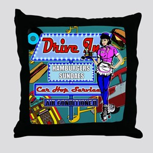 AT-THE-DRIVE-IN-temp_shower_curtain Throw Pillow