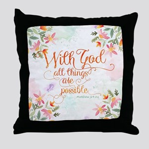With God Throw Pillow