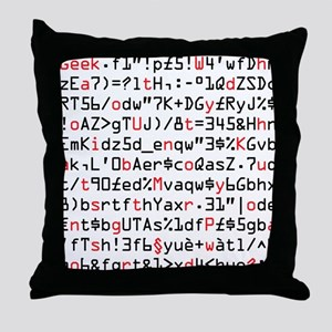 Geek Strong Password. Throw Pillow