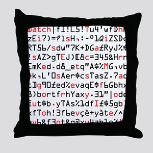 Secret Message: I Love you. Throw Pillow