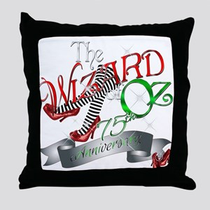 75th Anniversary Wizard of Oz Red Shoes Throw Pill
