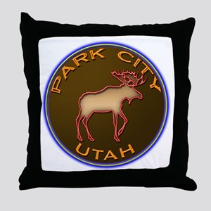 Park City Moose Designs Throw Pillow