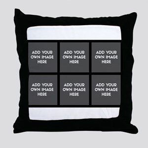 Add Your Own Image Collage Throw Pillow