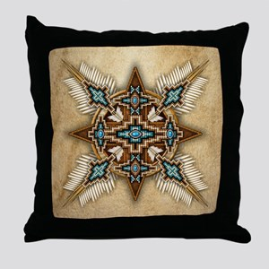 Native American Style Mandala 26 Throw Pillow