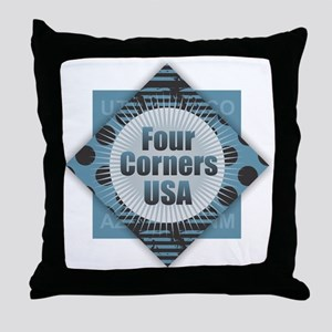 Four Corners USA Throw Pillow