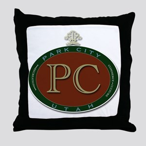 Park City Logo Medallion Throw Pillow