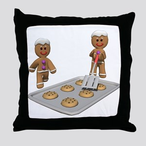 GINGERBREAD MEN DEFENSE Throw Pillow