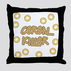 Cereal Killer Throw Pillow