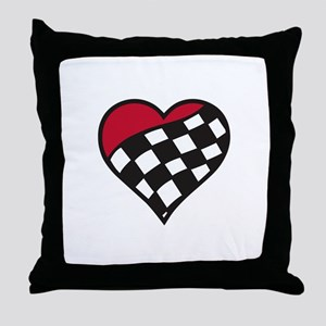 Racing Heart Throw Pillow