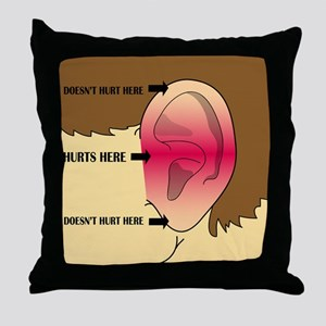 Does my head look funny to you? Throw Pillow