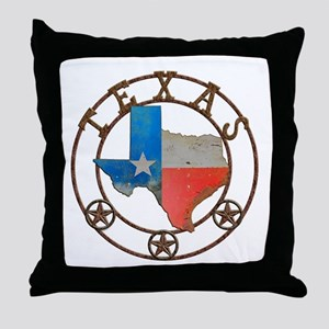 Texas Wrought Iron Barn Art Throw Pillow