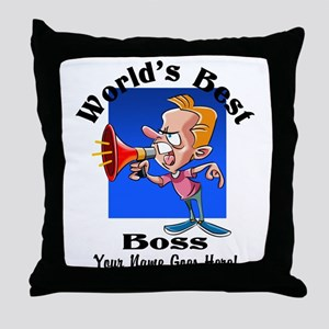 Worlds Best Boss Throw Pillow