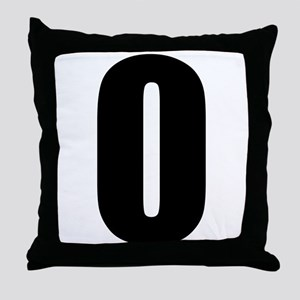 Number 0 Throw Pillow