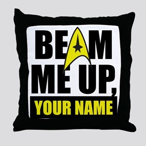 Beam Me Up Personalized Throw Pillow