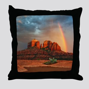 Rainbow In Grand Canyon Throw Pillow