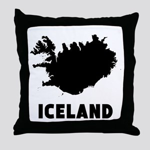 Iceland Silhouette Throw Pillow