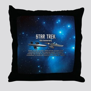 50TH FINAL FRONTIER Throw Pillow