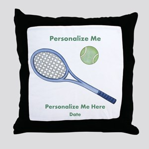 Personalized Tennis Throw Pillow