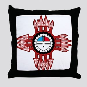 ZUNI SUN FACE ZIA Throw Pillow