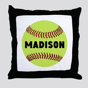 Softball Personalized Throw Pillow