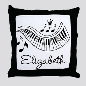 Piano Music Lover Personalized Throw Pillow