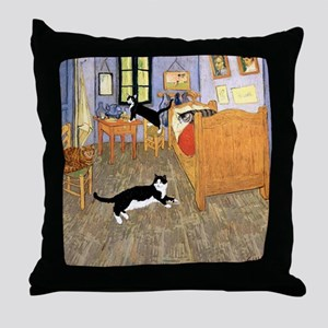 Vincent's CATS Throw Pillow