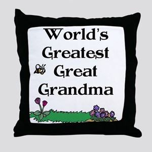 World's Greatest Great Grandm Throw Pillow