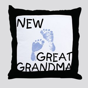 New Great Grandma (blue) Throw Pillow