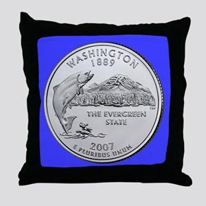 2007 Washington State Quarter Throw Pillow