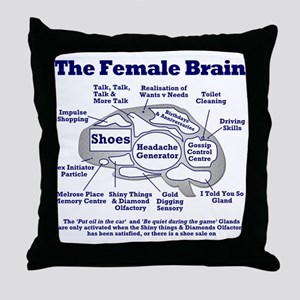 The Thinking Woman's Throw Pillow