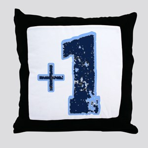 Plus one reining Throw Pillow