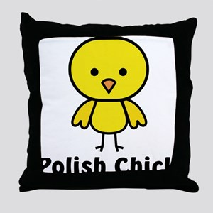 Polish Chick Throw Pillow